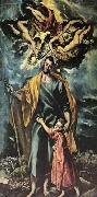 GRECO, El St Joseph and the Christ Child oil painting picture wholesale