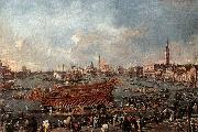 GUARDI, Francesco The Doge on the Bucintoro near the Riva di Sant-Elena oil painting artist