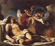 GUERCINO The Dead Christ Mourned by two Angels oil painting picture wholesale