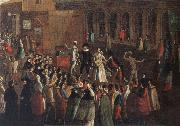 Gabriel Bella A Troupe of Actors on the piazzetta oil painting picture wholesale