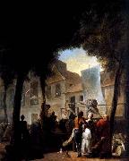 Gabriel Jacques de Saint-Aubin A Street Show in Paris oil painting picture wholesale