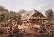 Gabriel Lory fils House of peasants in the vicinity of Bern oil painting picture wholesale