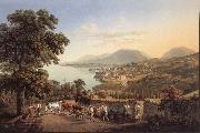 Gabriel Lory fils Seen City of Neuchatel oil painting picture wholesale