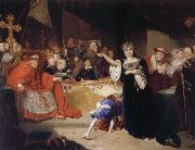George Henry Harlow The Court for the Trial of Queen Katharine oil painting picture wholesale