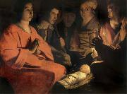 Georges de La Tour The adoracion of the shepherds oil painting picture wholesale