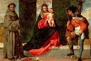 Giorgione Madonna with the Child, St Anthony of Padua and St Roch oil painting picture wholesale