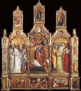 Giovanni dal ponte Polyptych of the Ascension of Saint John the Evangelist oil painting artist