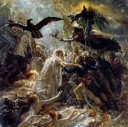 Girodet-Trioson, Anne-Louis Ossian Receiving the Ghosts of French Heroes oil painting picture wholesale