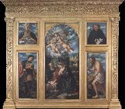Girolamo Romanino Polyptych of the Nativity,with Saints Alexander,Jerome,Gaudioso and Filippo Benizzi oil painting artist