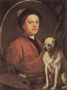 HOGARTH, William The Painter and his Pug oil painting picture wholesale