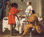 Hendrick the Brugghen Jacob Reproaching Laban for giving Him Leah in Place of Rachel oil painting artist