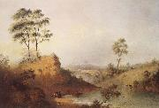 Henry Burn Studley Park Bridge over the Yarra oil painting picture wholesale