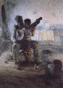Henry Ossawa Tanner The first lesson oil painting artist