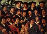 JACOBSZ, Dirck Group portrait of the Shooting Company of Amsterdam oil painting artist