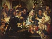 Jacob Jordaens The Bean King oil painting picture wholesale