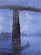 James Abbott McNeil Whistler Blue and Gold-Old Battersea Bridge oil painting picture wholesale