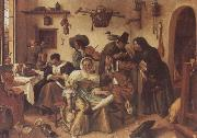Jan Steen Beware of Luxury oil painting picture wholesale