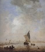 Jan van  Goyen Fishermen Hauling a Net oil painting picture wholesale