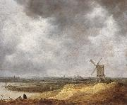 Jan van Goyen A Windmill by a River oil painting picture wholesale