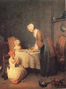 Jean Baptiste Simeon Chardin Saying Grace oil painting picture wholesale