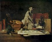 Jean Baptiste Simeon Chardin Still life with the Attributes  of Arts oil painting picture wholesale