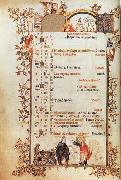 Jean Pucelle Belleville Breviary-December oil painting picture wholesale