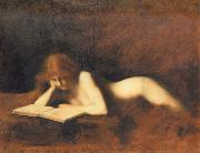 Jean-Jacques Henner Woman Reading oil painting artist