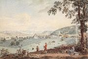 Johann Ludwig Aberli Kehrsatz in Bern view of north oil painting artist