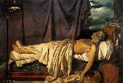 Joseph Denis Odevaere Lord Byron on his Death-bed oil painting