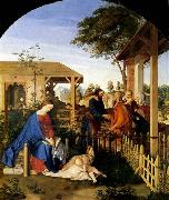Julius Schnorr von Carolsfeld The Family of St John the Baptist Visiting the Family of Christ oil painting picture wholesale