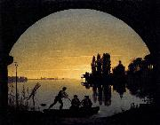 Karl friedrich schinkel The Banks of the Spree near Stralau oil painting artist