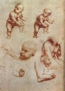 LEONARDO da Vinci Drawing of an Infant oil painting picture wholesale