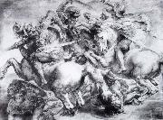 Leonardo  Da Vinci The Battle of Anghiari oil painting picture wholesale