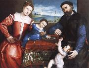 Lorenzo Lotto Giovanni della Volta with His Wife and Children oil painting reproduction