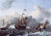 Ludolf Backhuysen The Eendracht and a Fleet of Dutch Men-of-War oil painting
