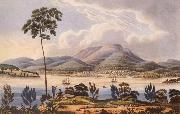 Lycett, Joseph Distant View of Hobart Town,Van Diemen-s Land,from Blufhead oil painting picture wholesale