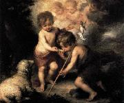 MURILLO, Bartolome Esteban Infant Christ Offering a Drink of Water to St John oil painting picture wholesale