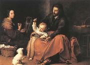 MURILLO, Bartolome Esteban The Holy Family with a Bird oil painting picture wholesale
