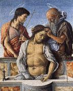 Marco Zoppo THe Dead Christ with Saint John the Baptist and Saint Jerome oil painting picture wholesale