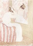Mary Cassatt The hair style oil painting picture wholesale