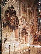 Maso di Banco Tomb with fresco of the resurrection of a member of the Bardi family oil