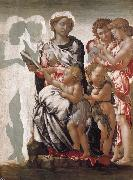 Michelangelo Buonarroti THe Madonna and Child with Saint John and Angels oil painting picture wholesale