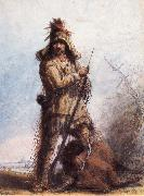 Miller, Alfred Jacob Louis-Rocky Mountain Trapper oil painting picture wholesale