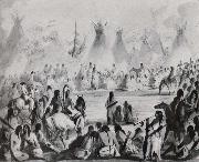 Miller, Alfred Jacob Indians Assembled in Grand Council to Hold a Talk oil painting picture wholesale