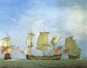 Monamy, Peter An english privateer in three positions oil painting picture wholesale