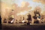 Monamy, Peter The Surrender of the Spanish Fleet to the British at Havana oil painting picture wholesale