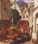 Moritz von Schwind Honeymoon oil painting picture wholesale