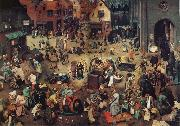 NEEFFS, Pieter the Elder The Battle Between Carnival and Lent oil painting picture wholesale