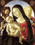 Neroccio Madonna and Child with St John the Baptist and St Mary Magdalene oil painting artist