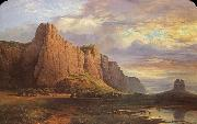 Nicholas Chevalier Mount Arapiles and the Mitre Rock oil painting picture wholesale